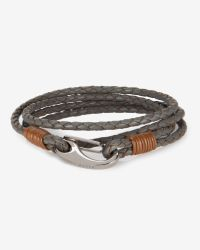 Ted Baker | Gray Block Colour Leather Bracelet for Men | Lyst