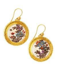 Gurhan - Metallic Floraldrop Gold Earrings - Lyst