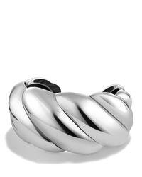 David Yurman | Metallic Sculpted Cable Cuff Bracelet | Lyst