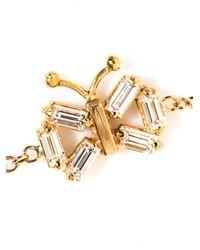 Matchstick - Metallic Diamond & Rose-Gold Butterfly Bracelet - Lyst