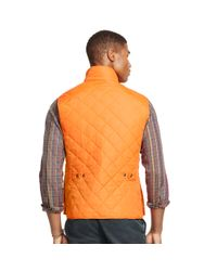 Polo Ralph Lauren | Orange Diamond-quilted Vest for Men | Lyst