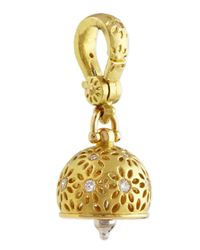 Paul Morelli | Metallic 18K Gold #2 Eyelet Diamond Meditation Bell Pendant | Lyst