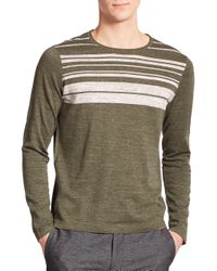 VINCE   Green Striped Sweater for Men   Lyst