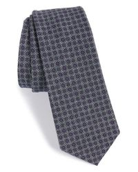 W.r.k. - Blue Geometric Cotton Tie for Men - Lyst