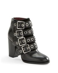 Marc By Marc Jacobs | Black Marnie Buckled Leather Ankle Boots | Lyst