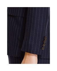 Polo Ralph Lauren - Blue Pinstriped Wool Jacket - Lyst