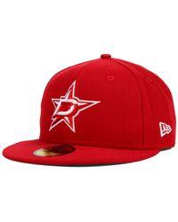 KTZ - Red Dallas Stars C-dub 59fifty Cap for Men - Lyst