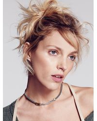 Free People - Metallic Flat Chain Necklace - Lyst