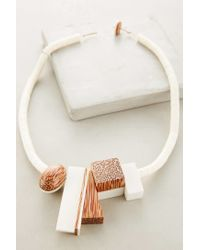 Anthropologie - White Rift Valley Necklace - Lyst
