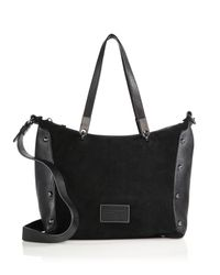 Marc By Marc Jacobs - Black Ninja Suede & Leather Convertible Tote - Lyst