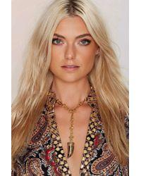 Nasty Gal | Metallic Heather Kahn Tooth & Nail Lariat Necklace | Lyst