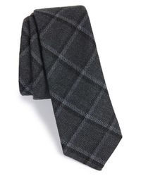 W.r.k. - Gray Grid Tie for Men - Lyst
