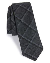 W.r.k. Gray Grid Tie for men