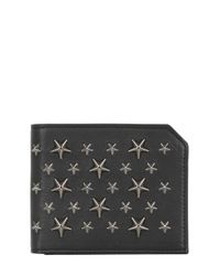 Jimmy Choo Black Star Studded Leather Wallet for men