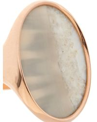 Monique Péan - Pink Fossilised Walrus Ivory & Rose-Gold Ring - Lyst