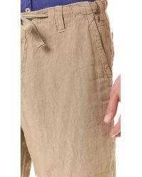 Hartford Natural Linen Shorts for men
