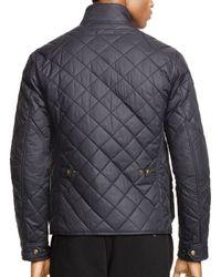 Ralph Lauren Black Polo Quilted Bike Jacket for men