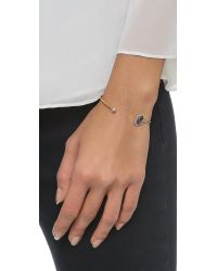 Tai Blue Hexagon Bracelet - Montana/gold