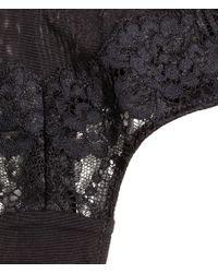 H&M Black Half String Briefs In Lace