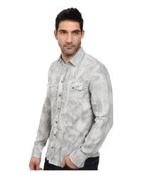 BOSS Orange | Gray Edaslime Slim Fit Long Sleeve Shirt In Linen Cold Dyed for Men | Lyst