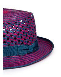 My Bob Multicolor 'puma' Bi-colour Panama Hat