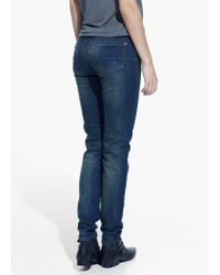 Mango Blue Push-Up Uptown Jeans