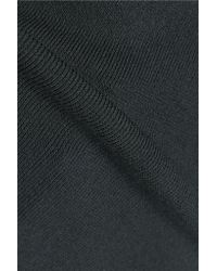 McQ - Blue Pointelle-trimmed Stretch-knit T-shirt - Lyst