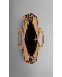Burberry - Metallic The Large Clifton In Signature Grain Nubuck Leather - Lyst