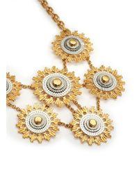 Alexander McQueen - Metallic Floral Gear Necklace - Lyst