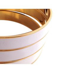 Tuleste | White Channel Bangles | Lyst