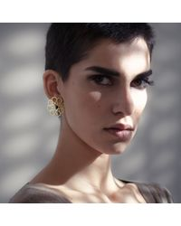 Ralph Masri | Metallic Arabesque Octagon Earrings | Lyst