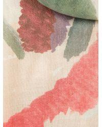 Burberry Prorsum Multicolor Watercolour Print Scarf