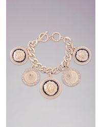 Bebe | Metallic Medallion Charm Bracelet | Lyst