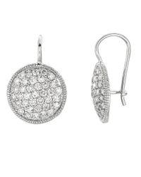 Lord & Taylor | Metallic Diamond Drop Earrings In 14 Kt. White Gold | Lyst