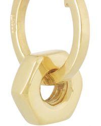 Ileana Makri - Metallic Bolt 18-Karat Gold Earrings - Lyst