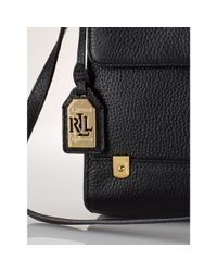 Ralph Lauren - Black Tumbled-Leather Cross-Body - Lyst