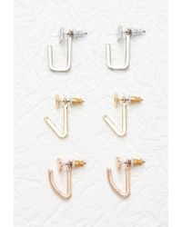 Forever 21 | Metallic Mixed Geo Ear Jacket Set | Lyst