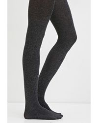 Forever 21 | Gray Marled Opaque Tights | Lyst