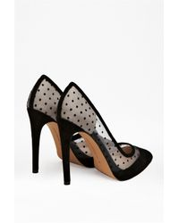 French Connection Black Camleigh Suede Polka Dot Heels