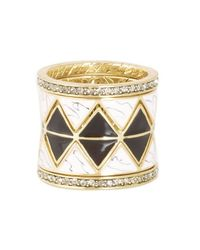 House of Harlow 1960 | Metallic Reflector Ring Stack | Lyst