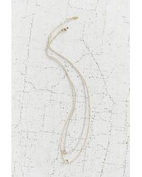 Urban Outfitters Metallic Open Geo High/low Necklace