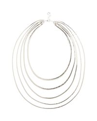 River Island | Metallic Silver Tone Slinky Layered Necklace | Lyst