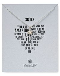 Dogeared - Metallic Its Personal Sister Wishing Star Necklace 18 - Lyst