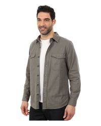 Woolrich - Gray Tiadaghton Solid Shirt Jacket for Men - Lyst