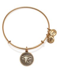 ALEX AND ANI | Metallic Eye Of Horus Ii Expandable Wire Bangle | Lyst