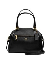 COACH | Black Large Prairie Satchel In Pebble Leather | Lyst