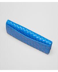 Bottega Veneta Signal Blue Intrecciato Vn Continental Wallet for men