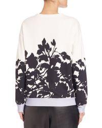 Prabal Gurung Black Floral-print Sweatshirt