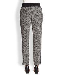 Marc By Marc Jacobs Gray Karoo Silk Printed Track Pants