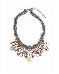 Missguided | Metallic Neon Rope Gem Statement Necklace | Lyst